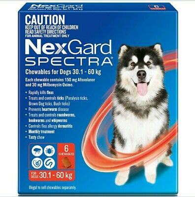 NexGuard Spectra Chewables For Dogs Red 6 Pack for Flea, Tick and Heartworm