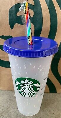 New Starbucks Confetti Color Changing Cup & Rainbow Straw Pride Summer 2020 Buy