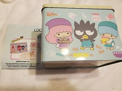 SANRIO Hello Kitty Loot Crate Cooking Recipe Card Tin box with Cards Sealed