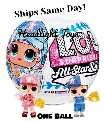 1 Ball LOL Surprise All Star B.B.s Big Sister Doll Baseball Team Sport In Hand