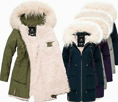 MARIKOO DAMEN WARME Winter Jacke Parka winter Mantel