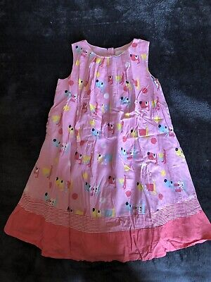 Girls NEXT Dog Cotton Party Summer Dress age 5-6 Years