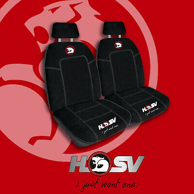 Hsv Front  Car Seat Covers Black/White Holden Extra Thick Embroidered Logo