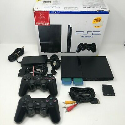 MINTY Sony Playstation 2 PS2 Slim Console Complete CIB Box w Extras SCPH-75001