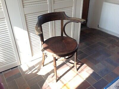 Old round wooden chair - collection only