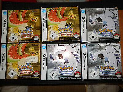 3 Pokemon Soul Silver+3 Heart Gold Umkarton ohne Inlay,ohne Anleitung,ohne allem