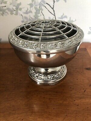 Silver Plate Plated Vintage Flower Holder Display Stand Vase Container Lanthe