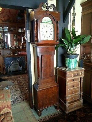 Antique Longcase Grandfather Clock Clocks