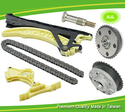 Timing Chain Kit+2 Camshaft VVT(Intake+Exhaust)Gears For BMW N45 N40 E46 316i