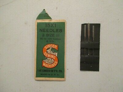 VINTAGE SINGER SEWING MACHINE 15 x 1 SIZE 11 NEEDLES 80-100 COTTON 0 SILK