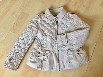Children's Burberry White quilted coat age 5