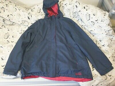 Peter Storm Blue/Pink Waterproof Jacket Size 16