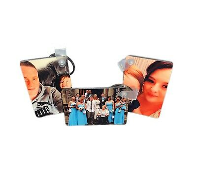 Personalised Photo Keyring Print Any Picture Custom Keychain Rectangle
