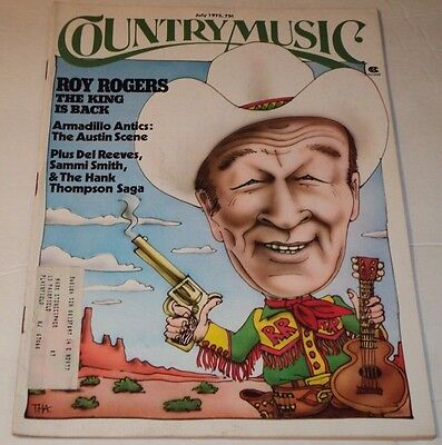 Country Music Mag July 1975 / Roy Rogers, Hank Thompson, Del Reeves, Sammi Smith
