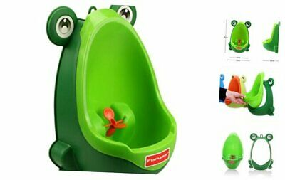 Foryee Cute Frog Potty Training Urinal for Boys with Funny Blackish Green