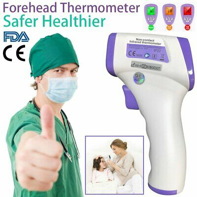 TESTED! LCD Digital IR Infrared Digital Forehead Fever Thermometer Non-Contact