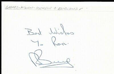 Robert BERRY, Derby, Lancs, Worcs and ENGLAND signed white postcard