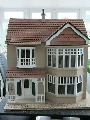 Dolls house, Victorian, wooden collectors dolls house with windows