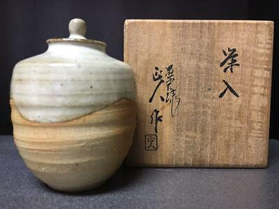 Tea Caddy Ceremony Chaire Pottery Ware Sado Japanese Traditional Crafts c156