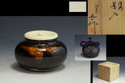 Tea Caddy Ceremony Chaire Pottery Ware Sado Japanese Traditional Crafts c202