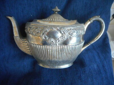 Victorian Antique Silver Plated Brittania Metal Teapot