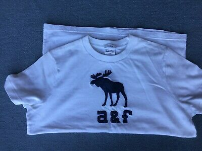Abercrombie & Fitch Kids White T-shirt - size XL