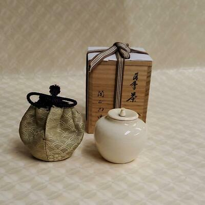 Tea Caddy Ceremony Chaire Pottery Ware Sado Japanese Traditional Crafts c224