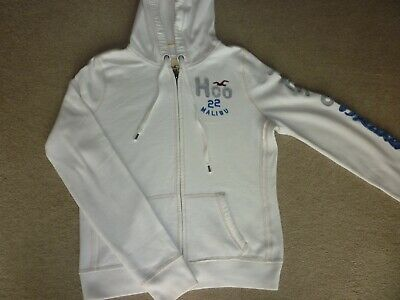 Girls Cream  Hollister Zip-Up Hoodie - Size Large - Excellent Condition