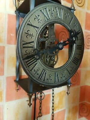 Weight driven skeleton wall clock