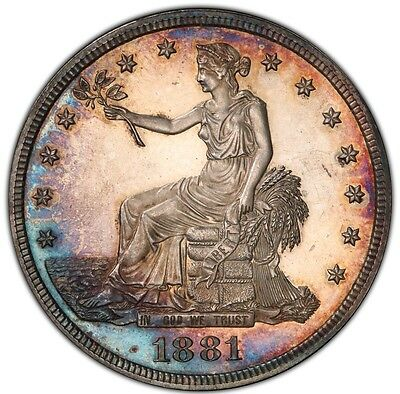 1881 Trade Dollar $ PR64 NGC  **    Proof Only Coin ** Under Graded Specimen