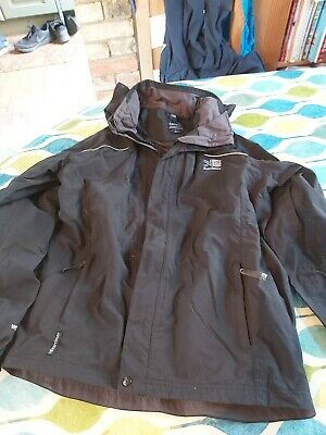 karrimor black coat boys with hood age 13