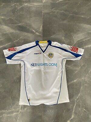 Leeds United Replica Shirt -Adults Small -2008/09- With DELPH #15 on back Macron