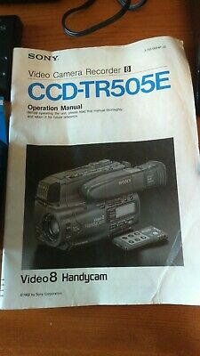 """Sony Handycam Ccd-Tr505E Camcorder Video-8 Af Hi-Fi Stereo """"Dh"""""""
