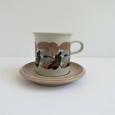 Arabia Finland Koralli Large Coffee or Tea Cup w Saucer 275 ml Handpainted VTG