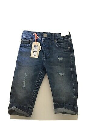 River Island Blue Medium Boys Sid Skinny Jeans 6-9 Months.new RRP £14 .