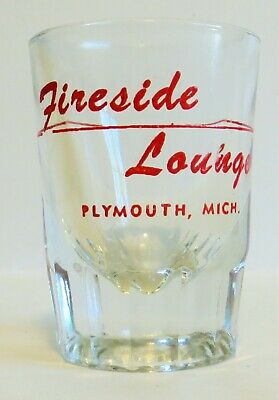 Detroit Area Restaurant/Bar Shot Glass, Fireside Lounge