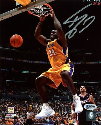 Lakers Shaquille O'Neal Autographed Signed 8x10 Photo Reprint