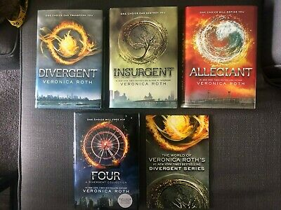 Divergent Series Book Lot Set Veronica Roth Hardcover Very Good Condition