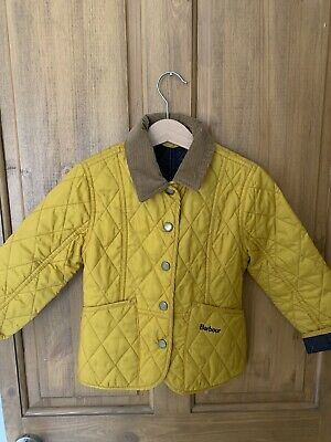 Barbour Quilted Girls Jacket Size Xxs Fits Age 2/3