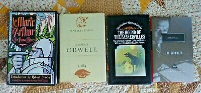 Mixed Lot of 4 Classic Literature hardcovers - Camus, Doyle, Orwell, Malory