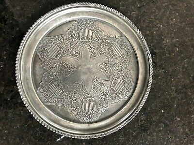 American pewter antique plate - 22cm