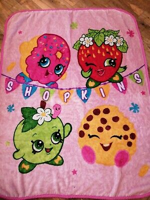 Walmart Shopkins Fleece Blanket
