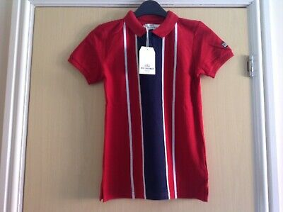 Ben Sherman red cherry polo top age 8/9 years