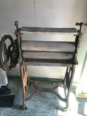 Vintage Cast Iron Mangle Antique Clothes Wringer