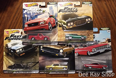 Fast & Furious Motor City Muscle V8 Complete Set of 5 - Hot Wheels Premium 2020