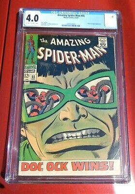MARVEL The Amazing Spider-Man #55 COMIC CGC 4.0 Doctor Octopus APPEARANCE