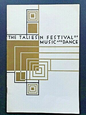 Frank Lloyd Wright Taliesin Festival of Music and Dance program 1959 vintage