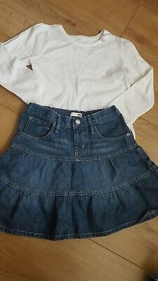 H&M M Girls Hello Kitty Skirt And White Top Set Age 6-7 Years