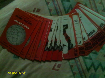 Middlesbrough  Football Programmes 1968-1973 (50 in total)