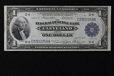 $1 1918 SPREAD EAGLE Large Federal Reserve Bank Note D3302958A one dollar, D-4